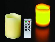 Bougie à Led Multicolore en CIRE véritable + Télécommande Décoration Ambiance