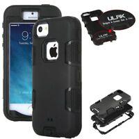 ULAK Hybrid Rugged Rubber Hard Shockproof Bumper Apple iPhone SE Cover 5S 5 Case