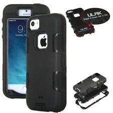 ULAK Hybrid Rugged Rubber Hard Shockproof Cover fit Apple iPhone SE 5S 5 Case