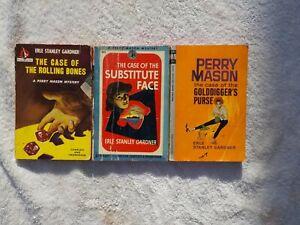 Erle Stanley Gardner  Perry Mason  Lot Of  ( 3 )  Pocket Books
