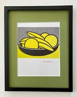 """ROY LICHTENSTEIN  BEAUTIFUL1981 SIGNED PRINT DOUBLE MATTED 11"""" X 14"""""""