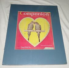 Woman's Home Companion March 1940 matted Front Cover - with Budgerigars