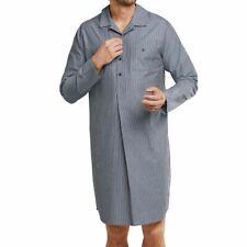 Seidensticker - Herren - Nachthemd - 100% Baumwolle - langarm - gestreift