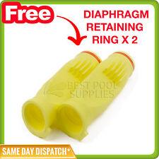2X STANDARD DIAPHRAGM -FREE RETAINING RING- ZODIAC BARACUDA POOL CLEANER-GENERIC