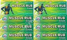 Dr. Sheffield's MUSCLE RUB Topical Pain Relieving Cream 35gm (6 pack )