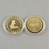 Vergoldetes Gedenk Litecoin Sammlerstück Goldenes Eisenbergmann Münzen GE
