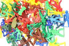 "250+ pc Vintage MPC 1970's Cowboys+Indians+ Plastic 2"" Toy Figures Colored"
