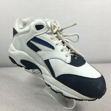 Wolverine SD Steel Toe Leather Work Sneakers Shoes White / Blue Mens Size 7 Wide