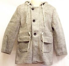 Kids Girls Grey Hood Coat Jacket With Pockets Zip New Winter Fashion UK Design