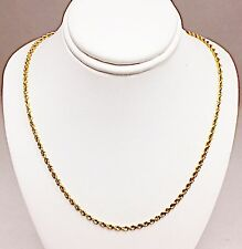 Chain Necklace 2.2 Mm Wide 7.6 Grams 14 Karat Yellow Gold 20 Inch Rope