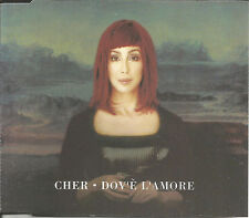 CHER Dov'e L'amore 3TRX w/ RARE MIXES & EDIT Europe CD single SEALED USA Seller
