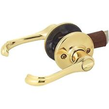 6-Kwikset Dorian Polished Brass Privacy Interior Door Lever Lockset 300DNL 3 CP