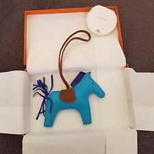 Authentic Hermes Rodeo horse Charm - Blue Izmir MM with receipt
