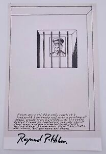Raymond Pettibon Untitled (From my cell...Stalin) Signed Autographed Lithograph
