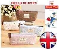 Vintage Flower Floral Pen Case Cosmetic Makeup Bag Storage Pouch Purse