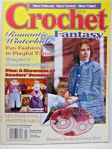 Crochet Fantasy Pattern Magazine April 1997 No. 114 Romantic Lace Afghans Kids