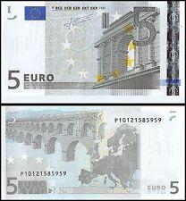 European Union 5 Euros, 2002, P-8p, UNC, Prefix-P