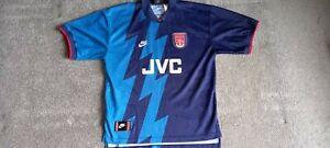 Original Arsenal Away Football Shirt 1995/96 Adults Large Nike #10 BERGKAMP