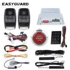 Stylish Red push button Pke car alarm system remote engine start security alarm