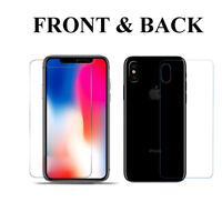 Front Tempered Glass + Back PET Screen Protector Cover Guard for Apple iPhone X