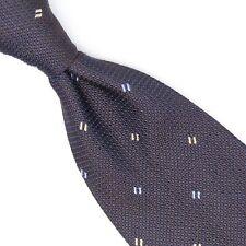 Robert Talbott Best of Class Mens Silk Necktie Navy Blue Grenadine Check Tie