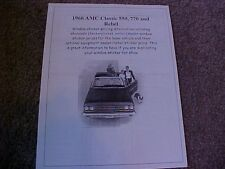 1966 AMC Classic & Rebel cost/dealer retail sticker pricing for car + options $