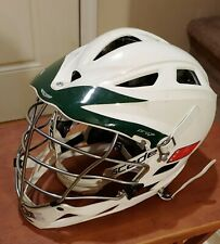 Cascade Pro7 Lacrosse Helmet~ White + Chin Strap Adult Osfm (One Size Fits Most)