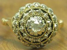 14kt 585 Gold art-deco anillo con 0,36ct ribete de diamante/anillo de diamantes goldring