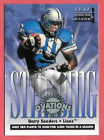 1998 Barry Sanders Leaf Rookies and Stars Standing Ovations /5000 - Lions