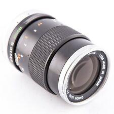 Canon FD 135mm f3.5 manual focus prime lens for Canon FD mount, silver nose