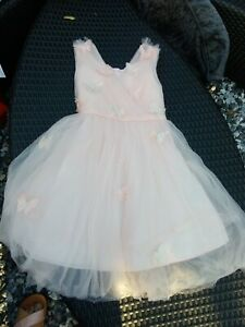 Pale Pink MONSOON Tulle Net Occasion Dress UK 8 Years