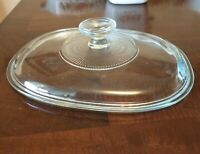 Pyrex F12C Replacement Oblong Oval Glass Lid for Corning Ware F12B Casserole