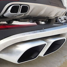 A Pair 4 New Tips Square Mouth Exhaust Muffler Pipe Silencer For Porsche Macan