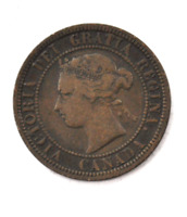 1881 H 1c Canada Large One Cent Penny KM#7  Bronze