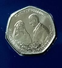 2017 QUEENS PLATINUM ANNIVERSARY BUNC Isle of Man 50P Fifty Pence  SEALED