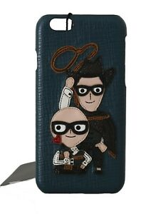 NEW DOLCE & GABBANA Phone Case Cover Blue Leather Sicilian Western iPhone6