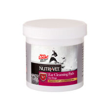 Nutri-Vet Ear Cleaning Pads Deodorizes Cleanse Cleaner for Dogs Puppy Dog 90ct