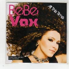 (FW81) Bebe Vox, All This Time - 2010 DJ CD
