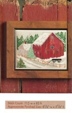 WINTER FARM SCENE  -  CROSS STITCH PATTERN ONLY HM - RYU