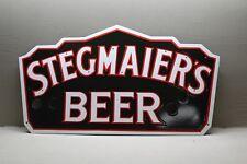 STEGMAIER'S BEER PORCELAIN NEON SIGN SKIN GAS OIL CAR 66 BAR