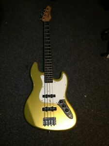 A vintage WESLEY bass guitar -