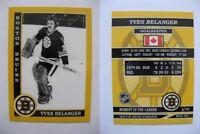 2015 SCA Yves Belanger Boston Bruins goalie never issued produced #d/10 rare
