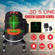 5 Line Laser Level Green Self Leveling 3D 360° Rotary Cross Measure Tools  F