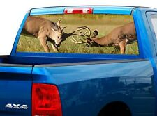 P442 Deer Buck Rear Window Tint Graphic Decal Wrap Back Truck Tailgate