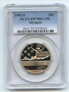 1992 S 50C Olympic Commemorative PCGS PR70DCAM