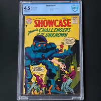 SHOWCASE #7 (DC 1957) 💥 CBCS 4.5 OW-W 💥 2ND APP OF CHALLENGERS OF THE UNKNOWN!