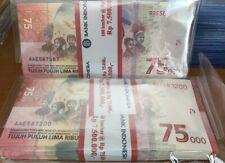 Indonesia 75000 rupiah 1stack/100pcs