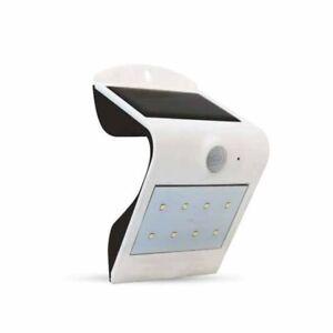 LAMPADA LED 1,5W SOLARE ESTERNO IP65 + SENSORE PIR DI MOVIMENTO BIANCO 3000K/400