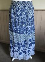 Monsoon Blue Floral Maxi Skirt BNWT Size 18 RRP £59
