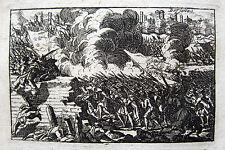 BRESCELLO DISTRUTTA NEL 1703 VEDUTE ASSEDIO DISTRUZIONE REGGIO EMILIA ROMAGNA